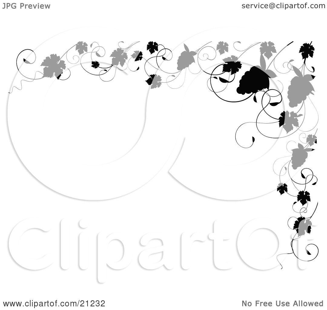 Clipart Illustration Of An Elegant Black And White Border