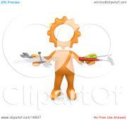 clipart illustration of orange