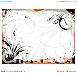 orange background bordering grunge clipart grasses illustration pargeter kj