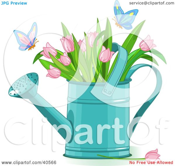 clipart illustration of butterflies