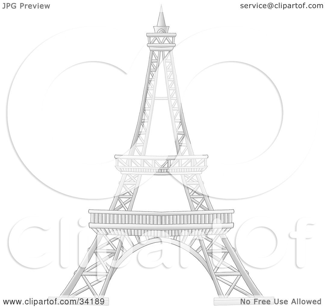 Clipart Illustration Of Paris France S Eiffel Tower By