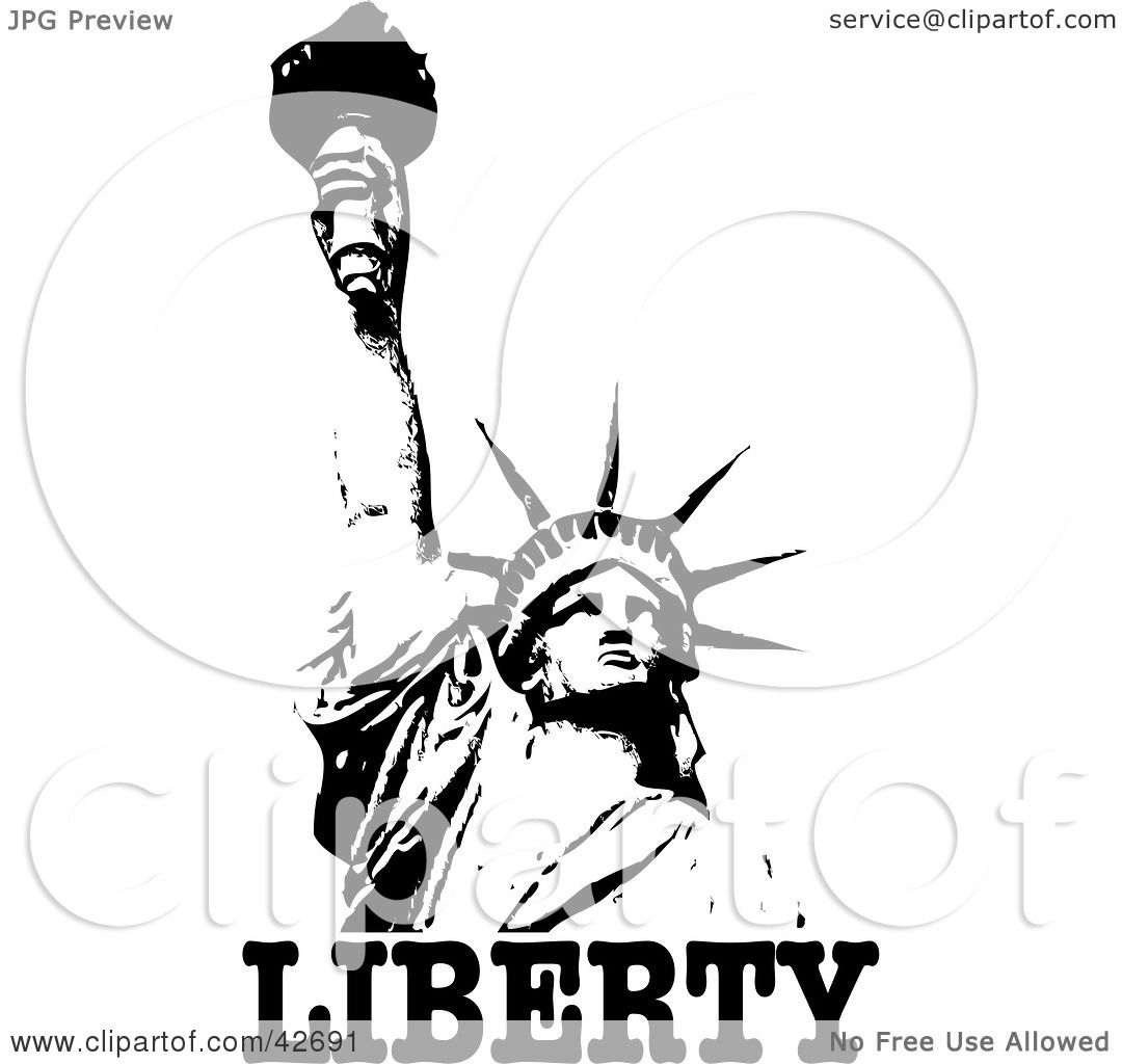 Clipart Illustration Of The Liberty Enlightening The World