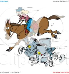 clipart illustration of three barrels racing a woman on a horse by dennis holmes designs [ 1080 x 1024 Pixel ]