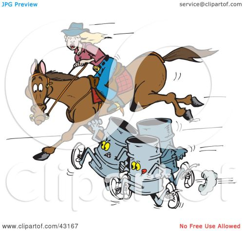 small resolution of clipart illustration of three barrels racing a woman on a horse by dennis holmes designs