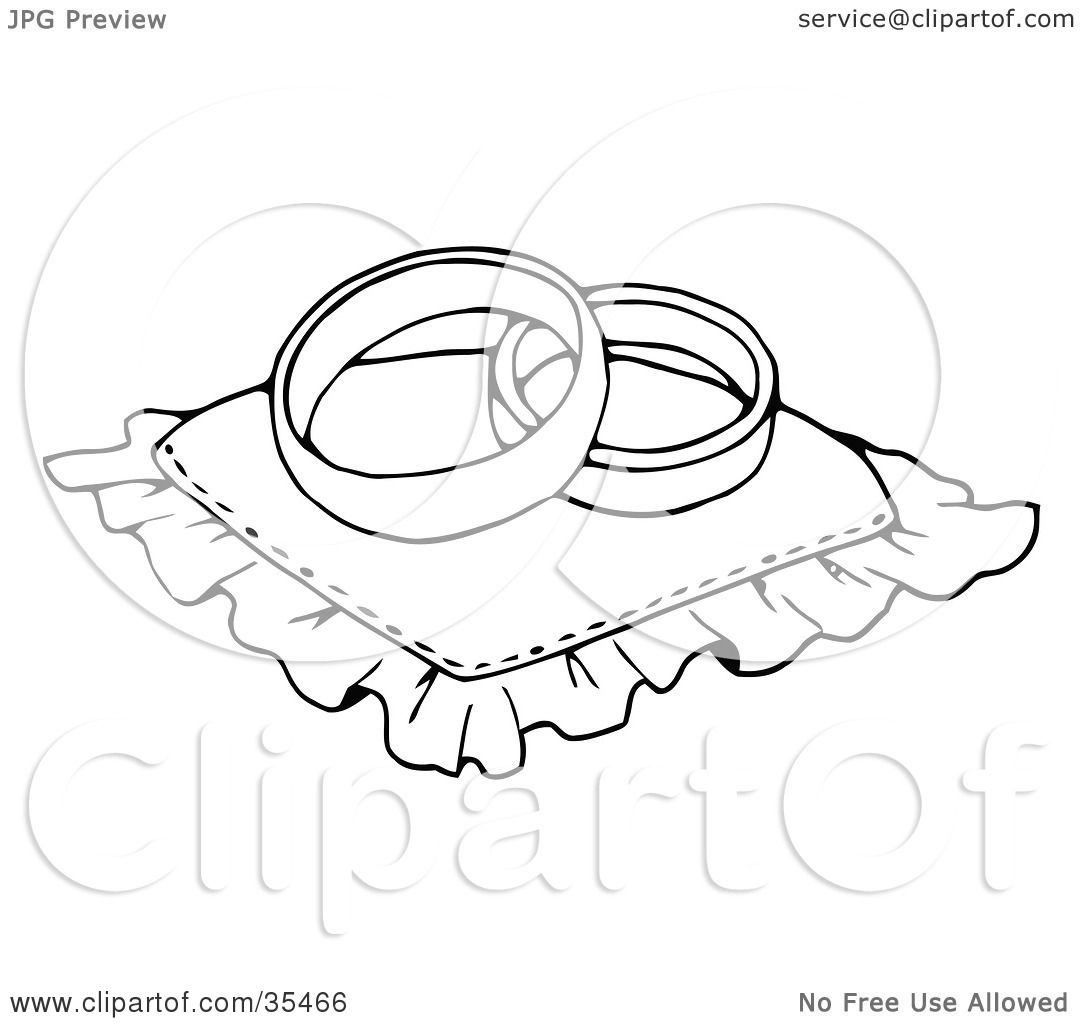 Clipart Illustration Of Two Wedding Bands Resting On A