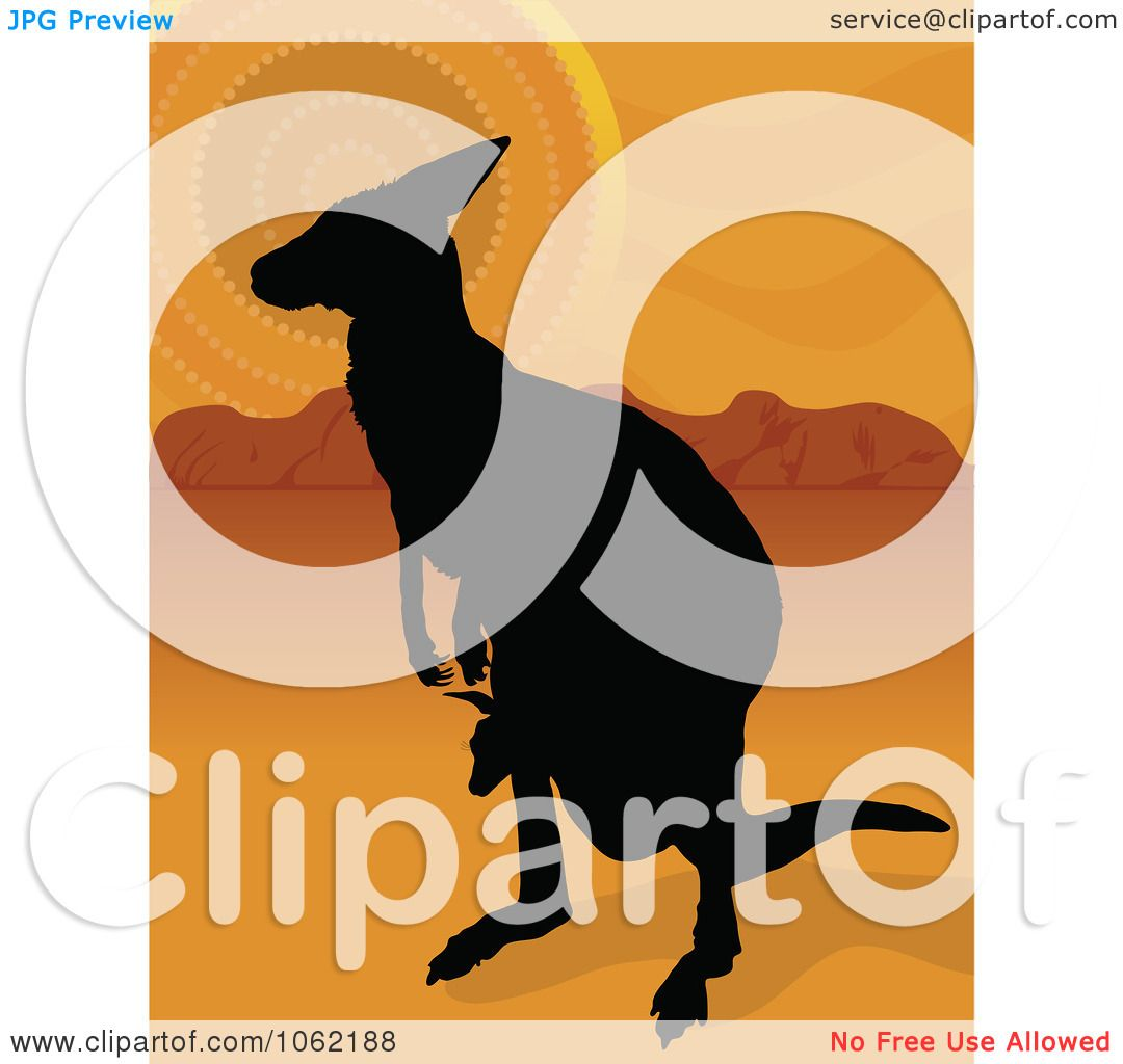 hight resolution of clipart kangaroo and joey silhouette in the outback royalty free vector aussie illustration by maria bell