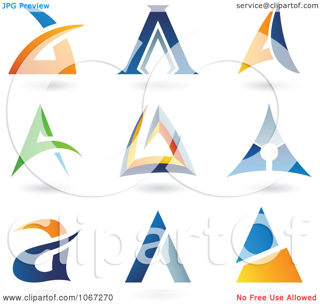 hight resolution of clipart letter a logos royalty free vector illustration by cidepix