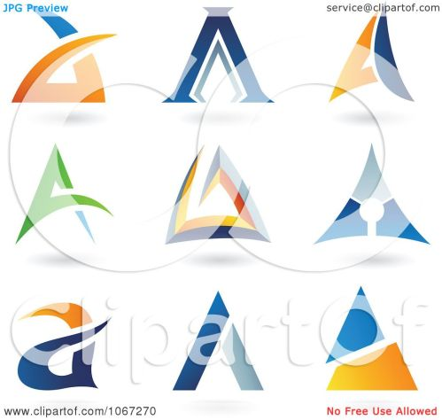 small resolution of clipart letter a logos royalty free vector illustration by cidepix