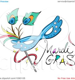 clipart mardi gras greeting with a mask royalty free vector illustration by bnp design studio [ 1080 x 1024 Pixel ]