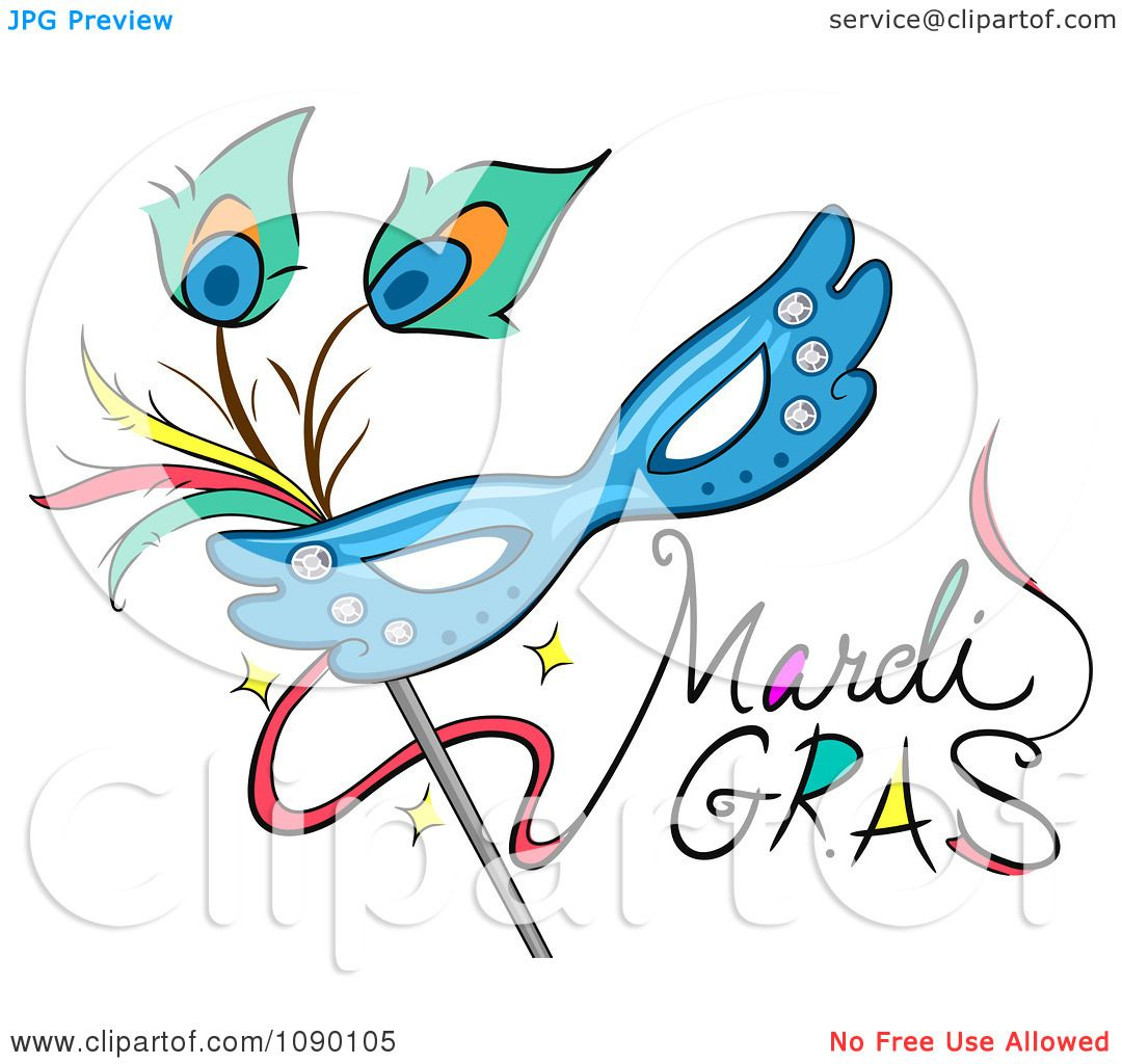 hight resolution of clipart mardi gras greeting with a mask royalty free vector illustration by bnp design studio