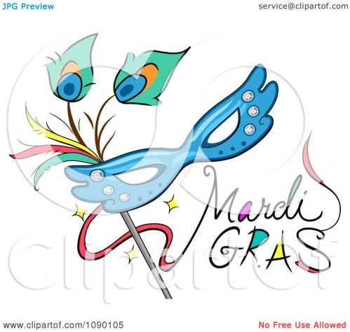 small resolution of clipart mardi gras greeting with a mask royalty free vector illustration by bnp design studio