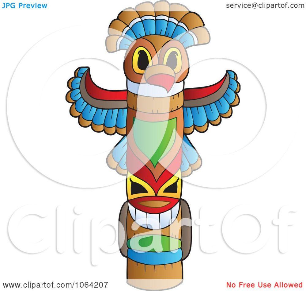 medium resolution of clipart native totem pole royalty free vector illustration by visekart