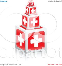clipart of 3d first aid cross cubes royalty free cgi illustration by andrei marincas [ 1080 x 1024 Pixel ]