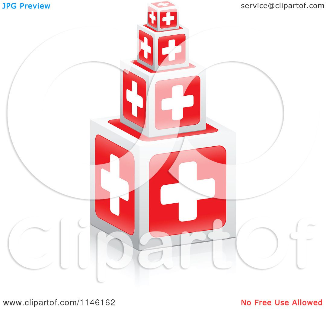 hight resolution of clipart of 3d first aid cross cubes royalty free cgi illustration by andrei marincas