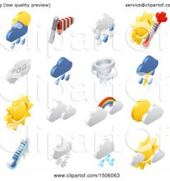 clipart of 3d isometric weather forecast icons royalty free vector illustration by atstockillustration [ 1080 x 1024 Pixel ]