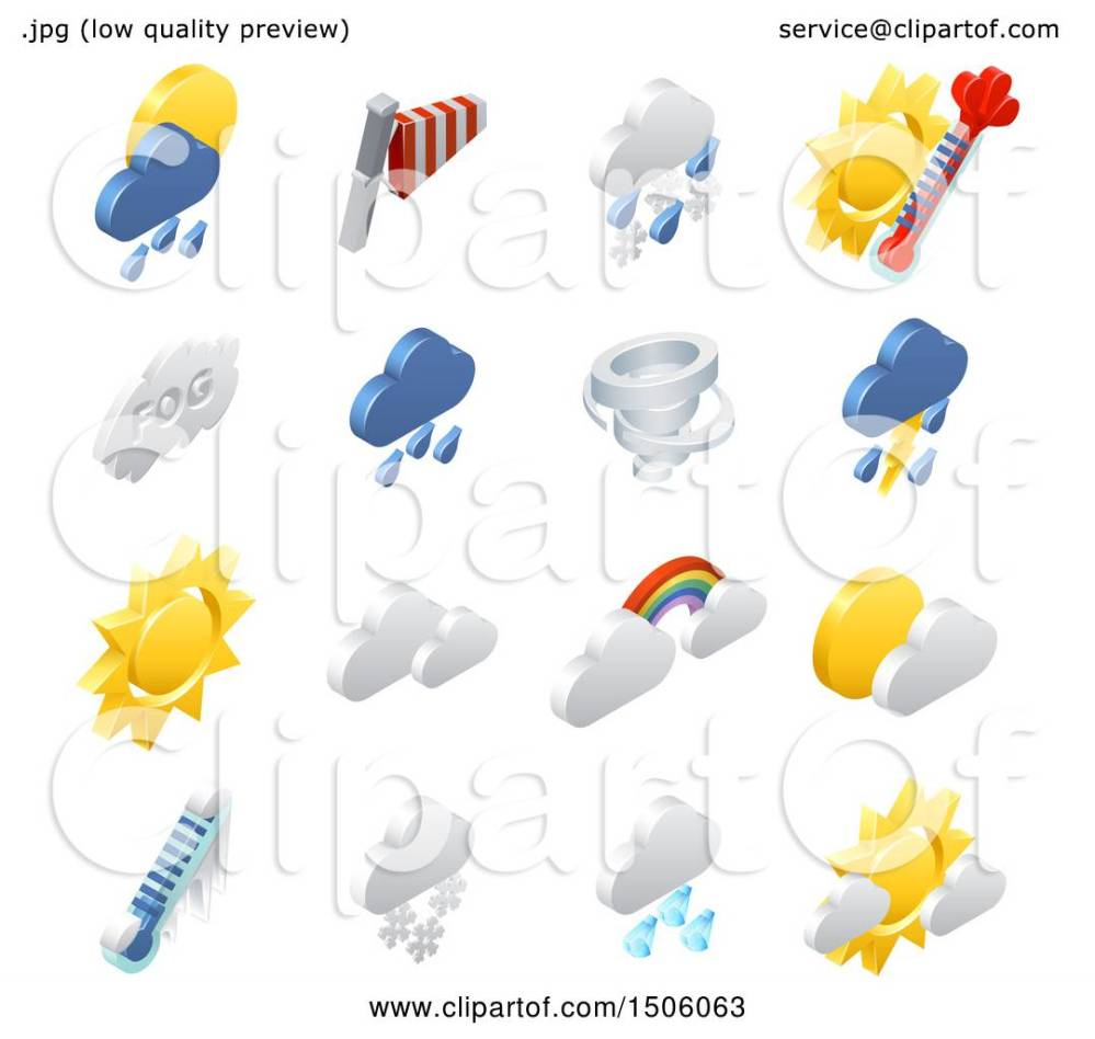 medium resolution of clipart of 3d isometric weather forecast icons royalty free vector illustration by atstockillustration