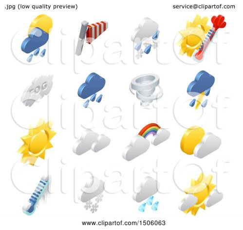 small resolution of clipart of 3d isometric weather forecast icons royalty free vector illustration by atstockillustration