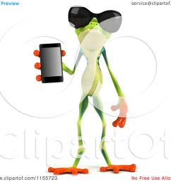 clipart of a 3d argie frog wearing sunglasses and holding a smart phone royalty free cgi illustration by julos [ 1080 x 1024 Pixel ]
