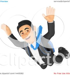 clipart of a 3d business man free falling while skydiving on a white background royalty free [ 1080 x 1024 Pixel ]