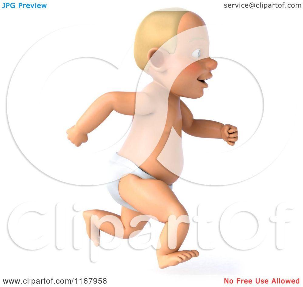 medium resolution of clipart of a 3d caucasian baby boy running royalty free cgi illustration by julos
