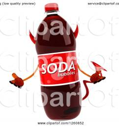 clipart of a 3d devil soda bottle character shrugging royalty free illustration by julos [ 1080 x 1024 Pixel ]