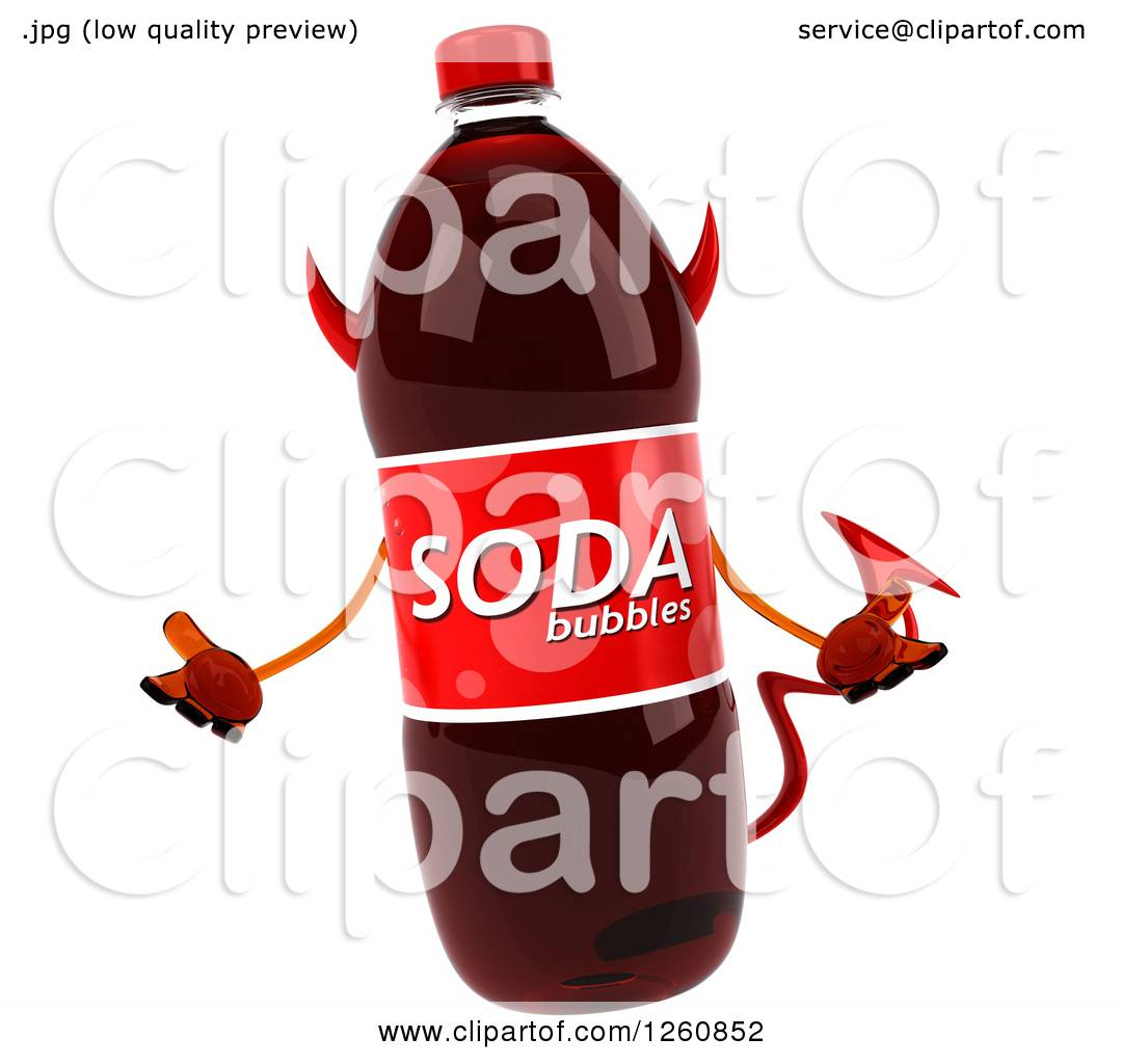 hight resolution of clipart of a 3d devil soda bottle character shrugging royalty free illustration by julos
