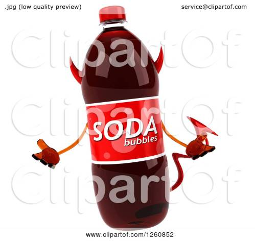 small resolution of clipart of a 3d devil soda bottle character shrugging royalty free illustration by julos