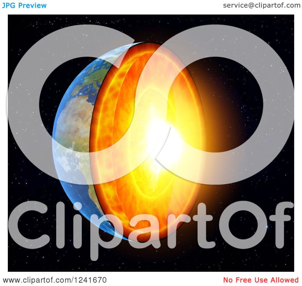 medium resolution of clipart of a 3d earth with exposed core royalty free illustration by mopic
