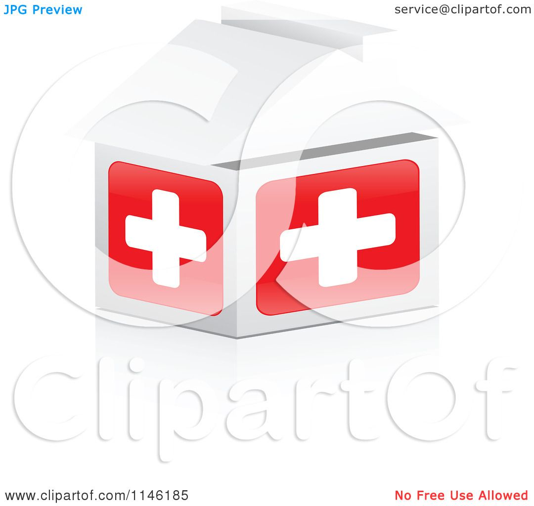 hight resolution of clipart of a 3d first aid hospital house royalty free cgi illustration by andrei marincas