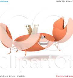 clipart of a 3d king crab jumping 2 royalty free illustration by julos [ 1080 x 1024 Pixel ]