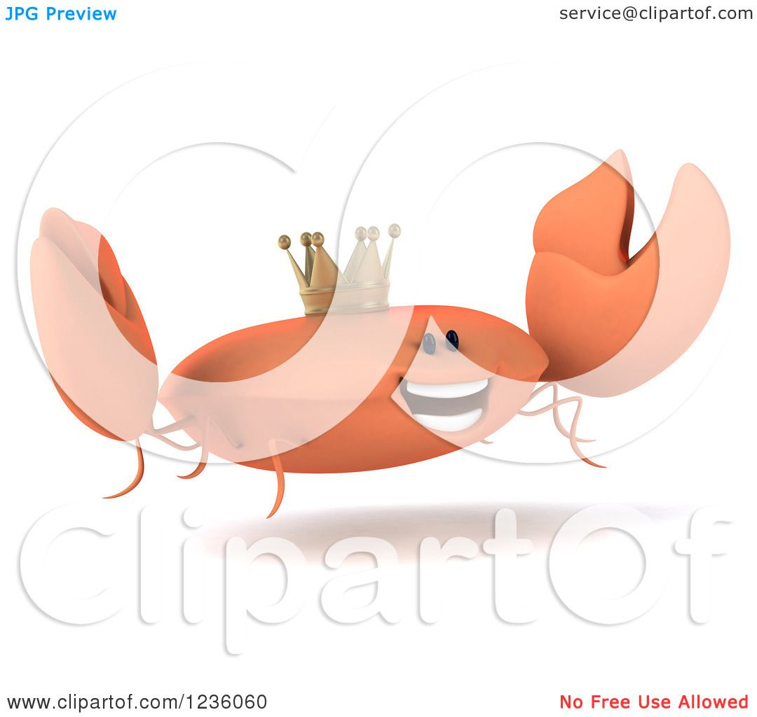 hight resolution of clipart of a 3d king crab jumping 2 royalty free illustration by julos