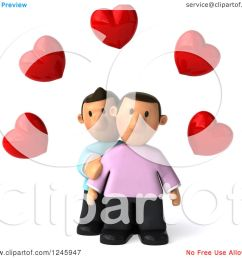 clipart of a 3d sad gay couple under hearts royalty free illustration by julos [ 1080 x 1024 Pixel ]