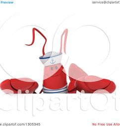 clipart of a 3d sailor lobster over a sign royalty free illustration by julos [ 1080 x 1024 Pixel ]