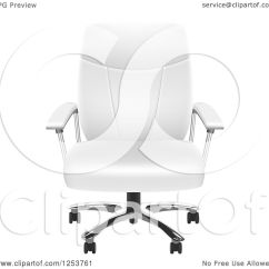 Office Chair Illustration Mesh Back Support Clipart Of A 3d White Leather Royalty Free