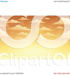 clipart of a background of a golden sunset sky with flares and puffy clouds royalty free vector illustration by visekart [ 1080 x 1024 Pixel ]