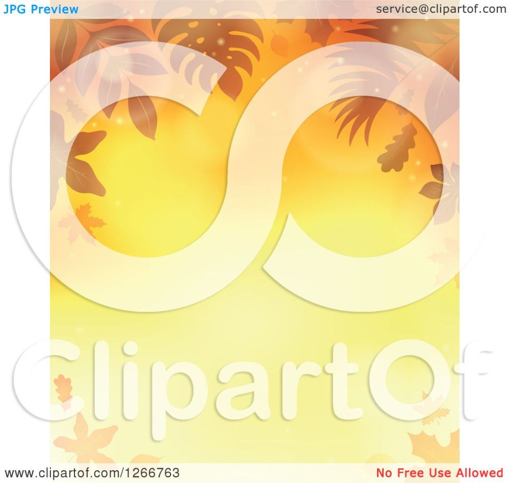 medium resolution of clipart of a background of orange flares and autumn fall leaves around text space royalty