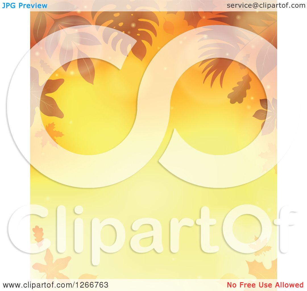 hight resolution of clipart of a background of orange flares and autumn fall leaves around text space royalty