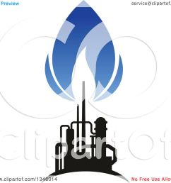 clipart of a black and blue silhouetted natural gas and flame design royalty free vector illustration by vector tradition sm [ 1080 x 1024 Pixel ]