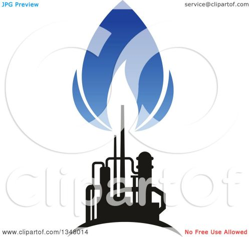 small resolution of clipart of a black and blue silhouetted natural gas and flame design royalty free vector illustration by vector tradition sm