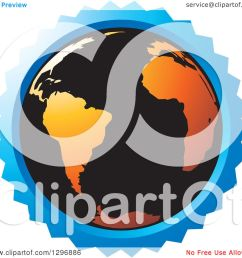 clipart of a black and orange earth in a blue circle royalty free vector illustration by lal perera [ 1080 x 1024 Pixel ]