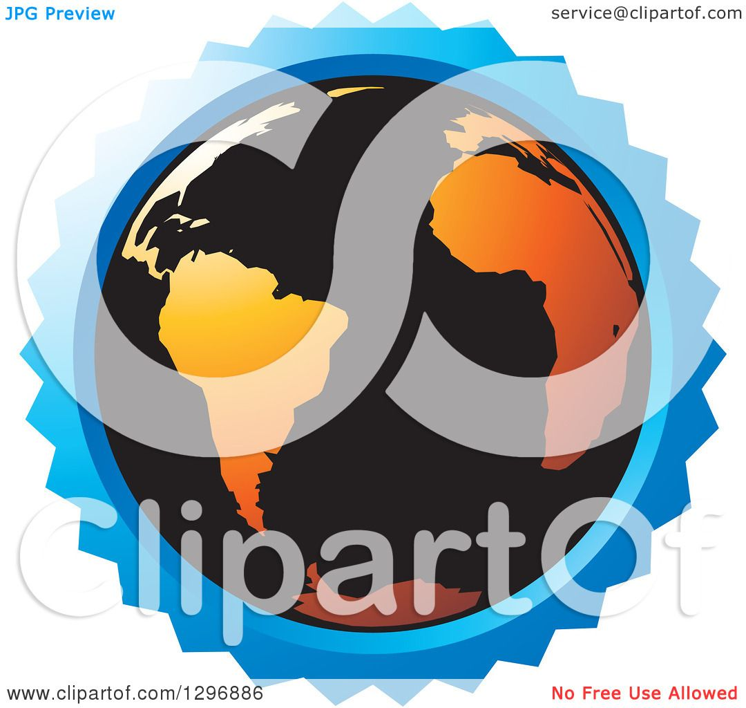 hight resolution of clipart of a black and orange earth in a blue circle royalty free vector illustration by lal perera