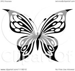 butterfly clipart vector illustration royalty graphics seamartini tradition sm cartoon regarding notes