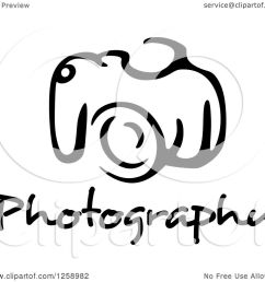 clipart of a black and white camera with photography text royalty free vector illustration by [ 1080 x 1024 Pixel ]