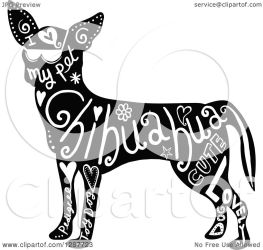 chihuahua dog clipart text illustration vector royalty prawny allowed copyright collc0089 protected