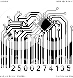clipart of a black and white circuit board bar code royalty free vector illustration by [ 1080 x 1024 Pixel ]