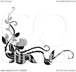vine border rose corner floral clipart vector element tradition sm transparent