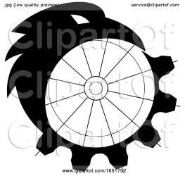 raven crow morphing into bird royalty gear clipart illustration patrimonio vector clip