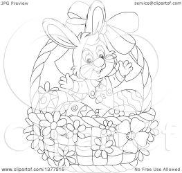 bunny easter rabbit clipart inside basket welcoming illustration eggs royalty bannykh alex vector clip