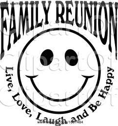 clipart of a black and white family reunion happy face with live love laugh and be [ 1080 x 1024 Pixel ]