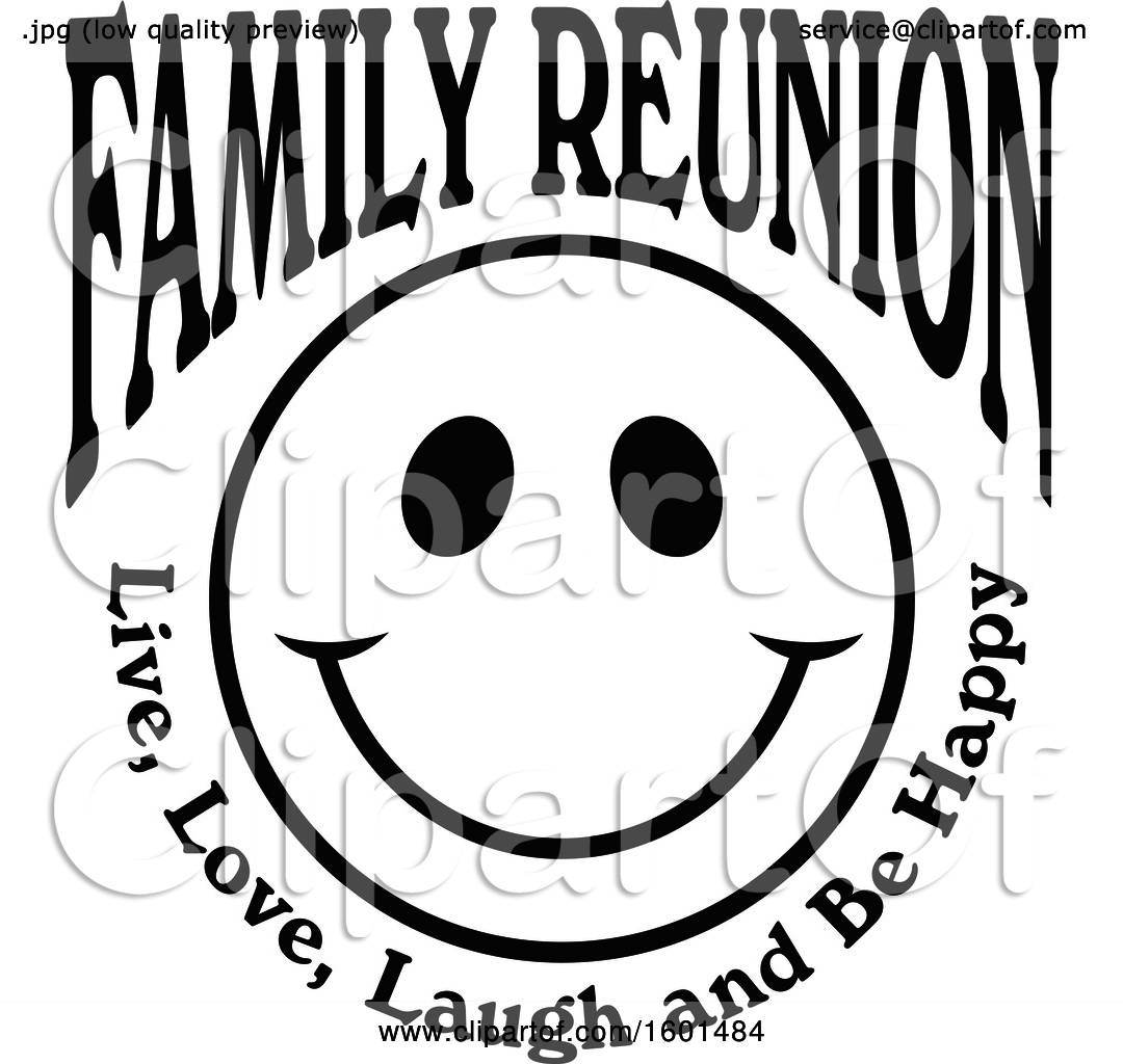 hight resolution of clipart of a black and white family reunion happy face with live love laugh and be